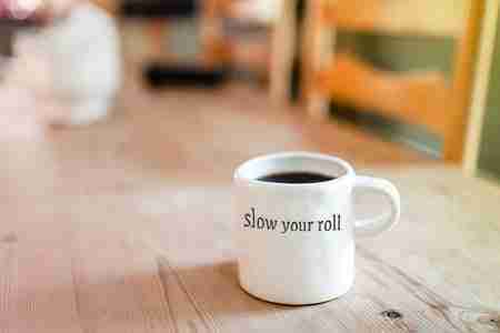 slow vs simple living - slow your roll mug